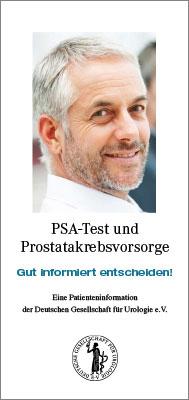 Patienteninformation: Früherkennung von Prostatakrebs (kurz)