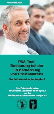 Broschüre: Früherkennung von Prostatakrebs